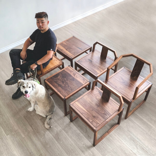 Wooden Dining Chair Set