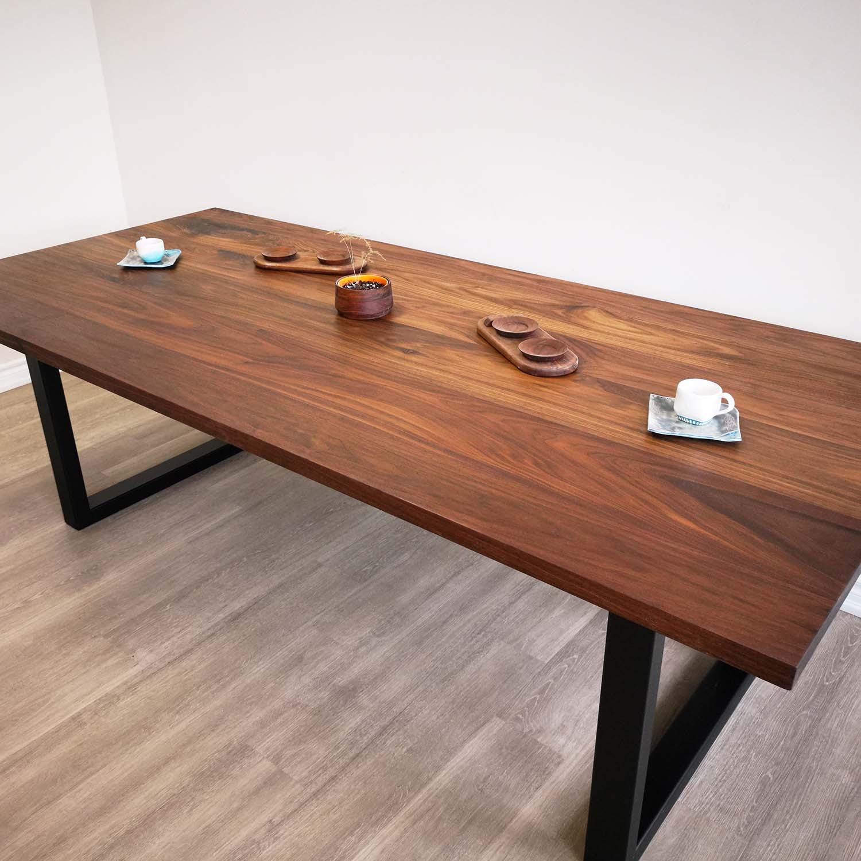 Solid Wood Dining Table Toronto 100 Premium Canadian Walnut