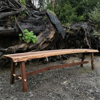 Wood Slab Bench Toronto