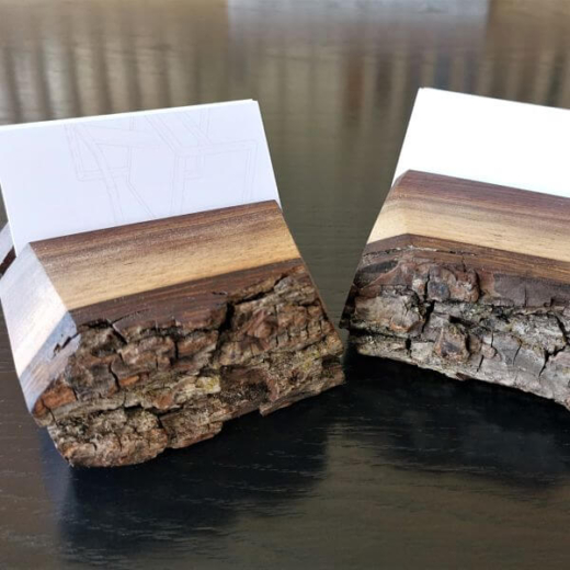 Wooden Business Card Holders