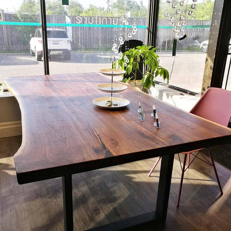 live edge dining table Toronto