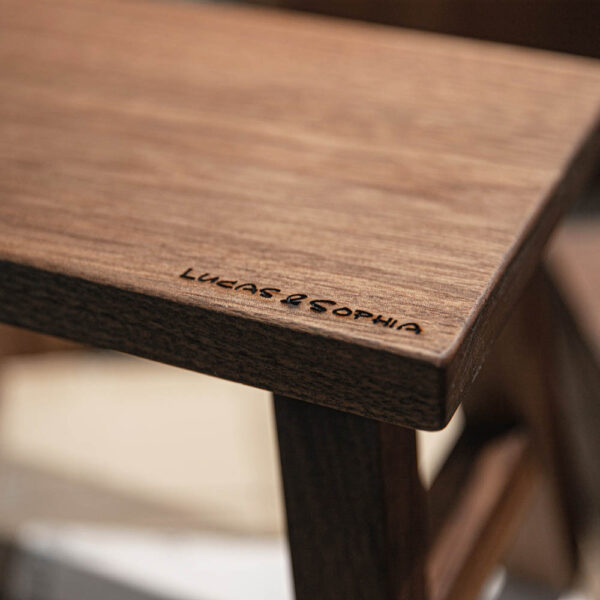 Wood Stool Engraving