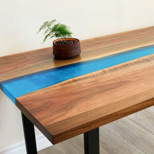 Epoxy River Desk- Black Walnut