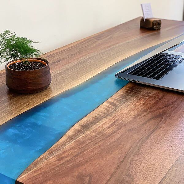 Epoxy River Office Table