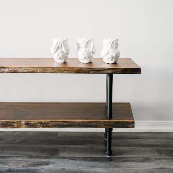 Wood TV Bench