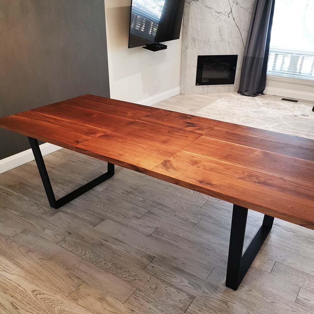 walnut extendable tables