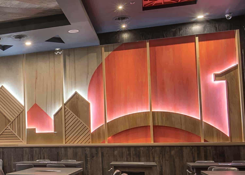 Restaurant Feature Walls