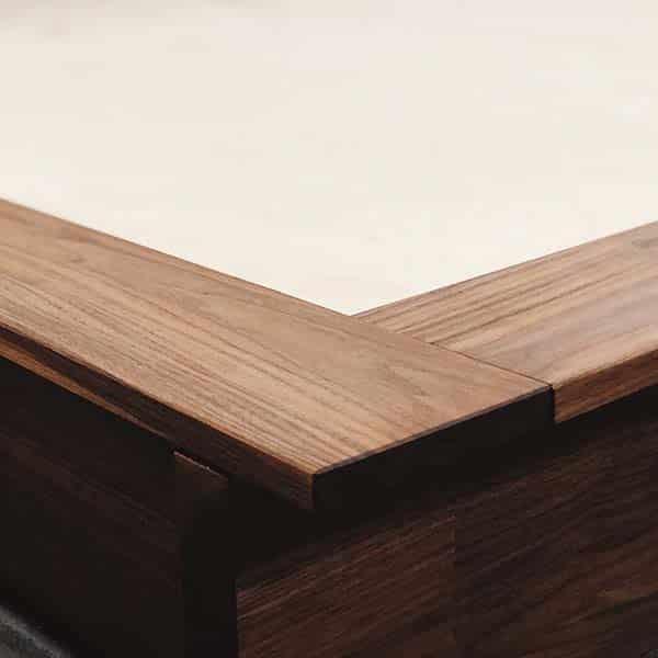 walnut bed frame king